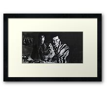 I think you ought to strangle it quickly before it starts trying to make friends with us.  Framed Print