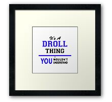 It's a DROLL thing, you wouldn't understand !! Framed Print