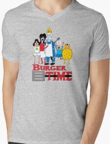 Burger Time Mens V-Neck T-Shirt
