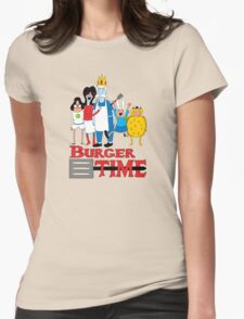Burger Time Womens Fitted T-Shirt