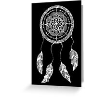 Dreamcatcher (Black and White) Greeting Card