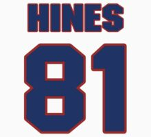National football player Jimmy Hines jersey 81 by imsport