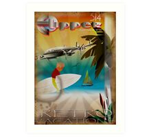 Retro Vacations Art Print