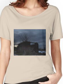 HDR Composite - Cross Lit and Backlit Abandoned Farmstead Women's Relaxed Fit T-Shirt
