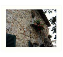Glimpse of Tuscan balcony Art Print