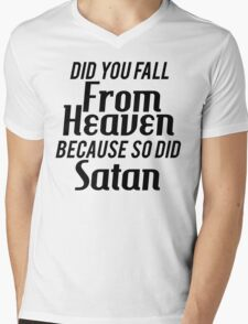 Falling from Heaven Mens V-Neck T-Shirt