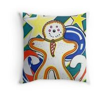 Gingerbread Holiday Design Throw Pillow