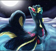 Moonlight Kitsune by Temrin