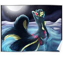 Moonlight Kitsune Poster