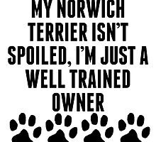 Well Trained Norwich Terrier Owner by kwg2200