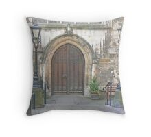The Entrance To York's Guildhall Throw Pillow