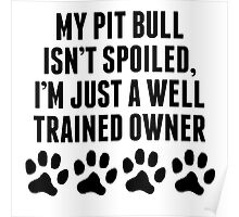 Well Trained Pit Bull Owner Poster