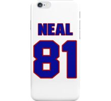 National football player Richard Neal jersey 81 iPhone Case/Skin