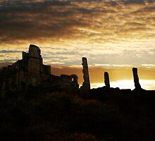 Castle Sunrise by michael welch
