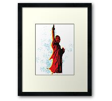 Statue of Che Framed Print