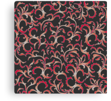 vintage red pattern Canvas Print