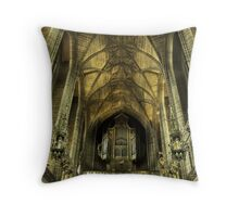 The Organ Throw Pillow