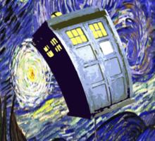 Starry Night Tardis Sticker