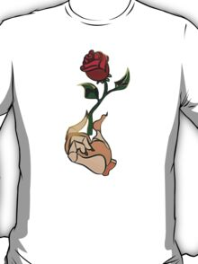 Beauty And The Beast Rose Flower T-Shirt