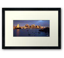 Glow - Sydney Harbour & Skyline, Australia Framed Print