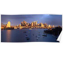 Glow - Sydney Harbour & Skyline, Australia Poster