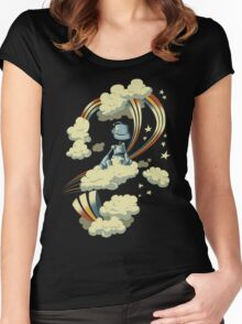 Flying Robot Women's Fitted Scoop T-Shirt
