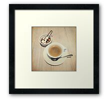 Cup of Coffee and Sugar Cubes For You Framed Print