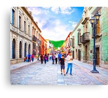 Afternoon Stroll in Historic Oaxaca Mexico Canvas Print