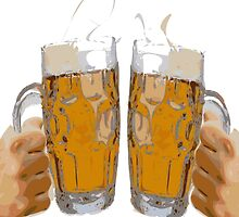 Cheers, with two beers by Grobie
