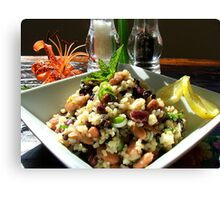 Aspire For Life - Brown Rice And Bean Salad - NZ Canvas Print