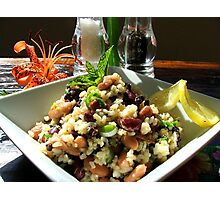 Aspire For Life - Brown Rice And Bean Salad - NZ Photographic Print