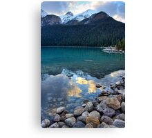 Evening at Lake Louise Canvas Print