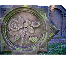 Floral Tombstone Photographic Print