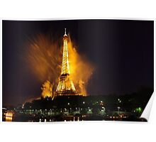 Paris' Eiffel tower is burning Poster