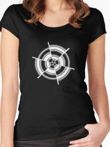Mandala 28 Simply White Women's Fitted Scoop T-Shirt