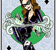 Catwoman - Queen of Diamonds by acatrisart