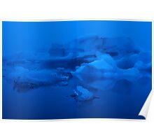 Floating Icebergs Poster