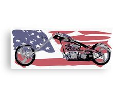 Chopper USA Canvas Print