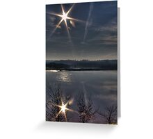 Double Star Greeting Card
