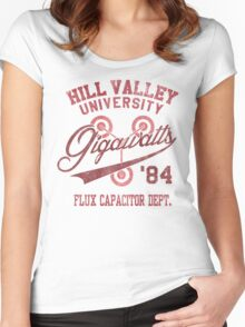 Hill Valley University Women's Fitted Scoop T-Shirt