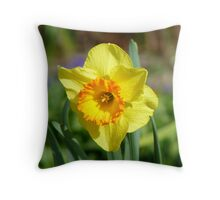 Dance With Daffodils On A Spring Breeze - Daffodil - NZ Throw Pillow