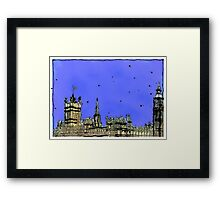 Houses of Parliament London Framed Print