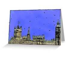 Houses of Parliament London Greeting Card
