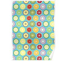 Funky Fruit Pattern Poster