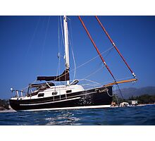 Caraway at Anchor off Corsica Photographic Print