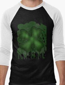 Shamrock Grunge Men's Baseball ¾ T-Shirt