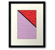 Pips - pink, red, black Framed Print
