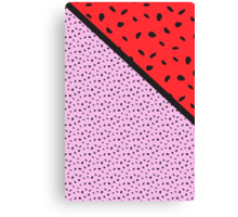 Pips - pink, red, black Canvas Print
