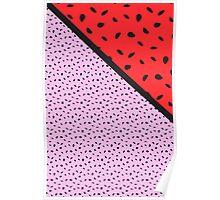 Pips - pink, red, black Poster