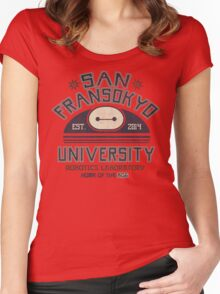 San Fransokyo University Women's Fitted Scoop T-Shirt
